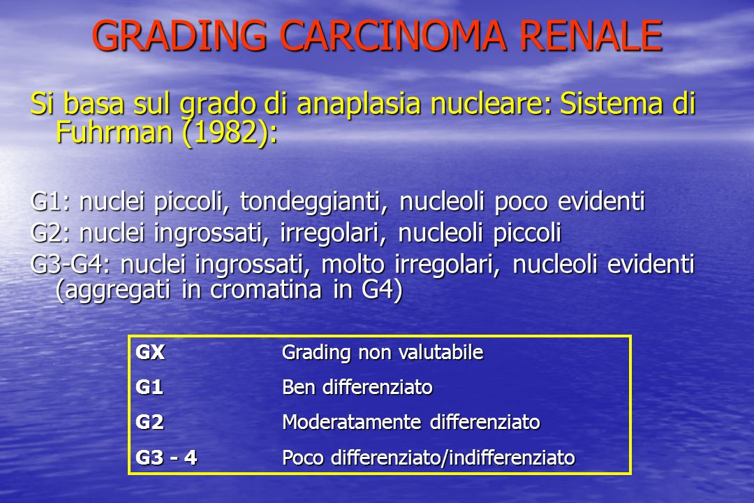 GRADING CARCINOMA RENALE