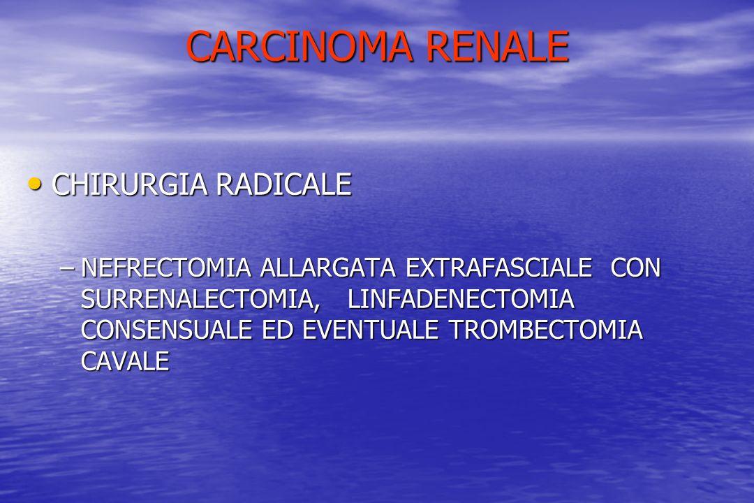 CARCINOMA RENALE CHIRURGIA RADICALE