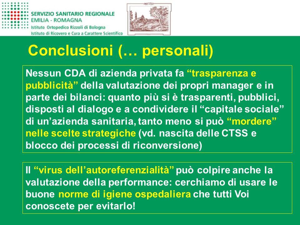 Conclusioni (… personali)