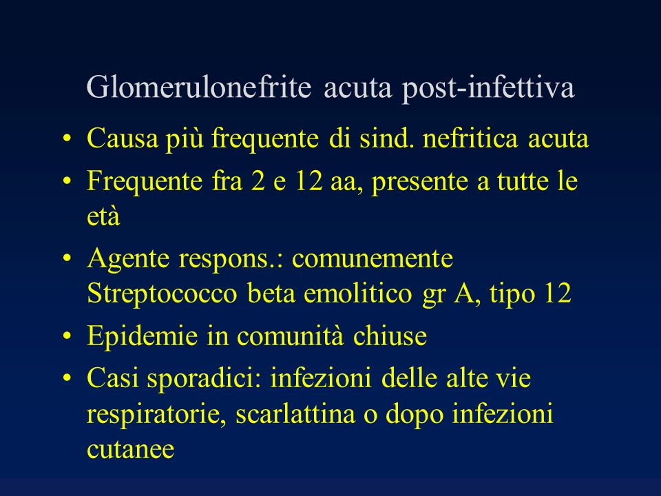 Glomerulonefrite acuta post-infettiva