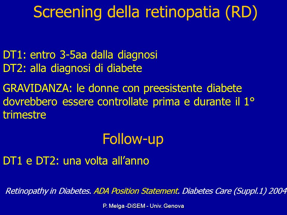 Screening della retinopatia (RD)