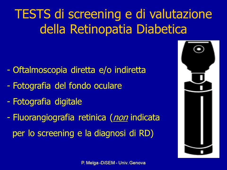 TESTS di screening e di valutazione della Retinopatia Diabetica