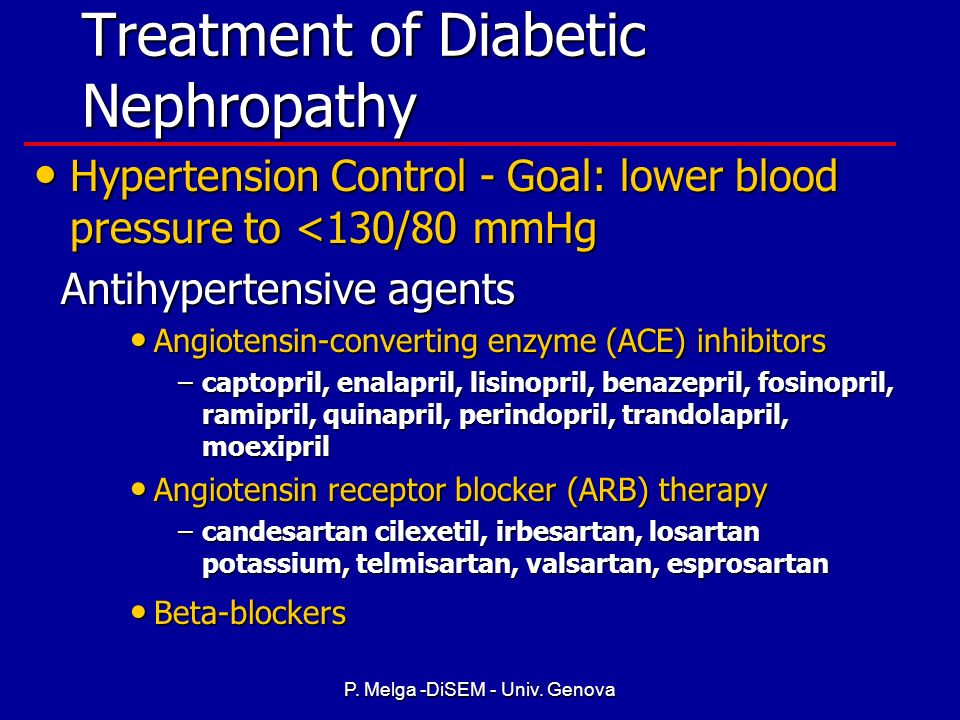 Treatment of Diabetic Nephropathy