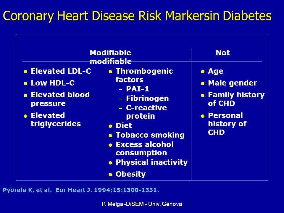 Coronary Heart Disease Risk Markersin Diabetes
