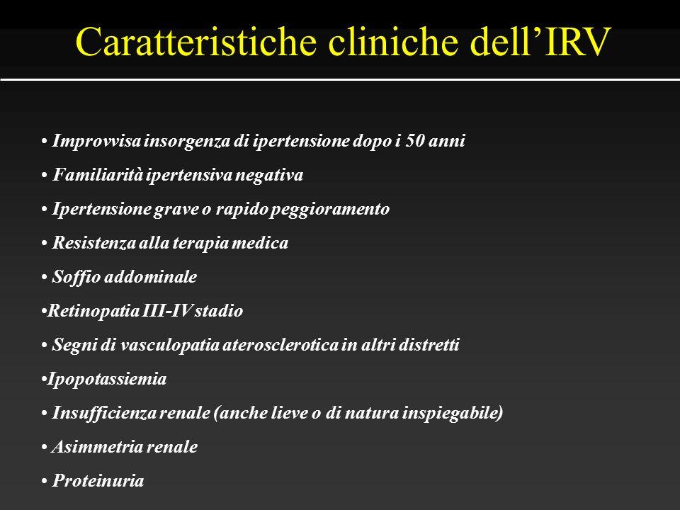 Caratteristiche cliniche dell'IRV