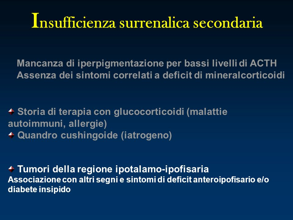Insufficienza surrenalica secondaria