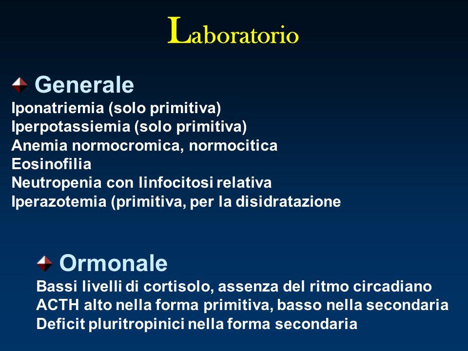 Laboratorio Generale Ormonale Iponatriemia (solo primitiva)