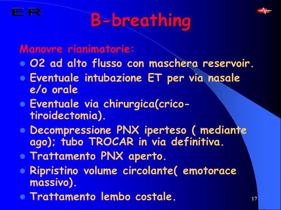 B-breathing Manovre rianimatorie: