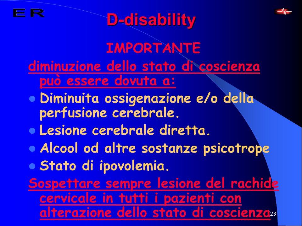 D-disability IMPORTANTE
