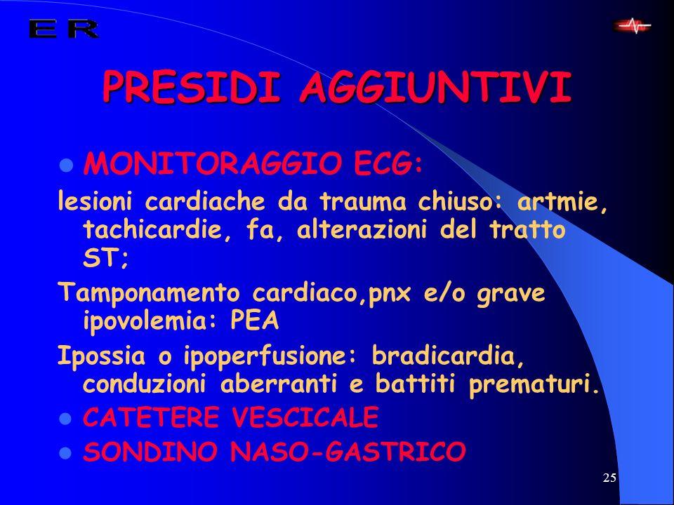 PRESIDI AGGIUNTIVI MONITORAGGIO ECG: