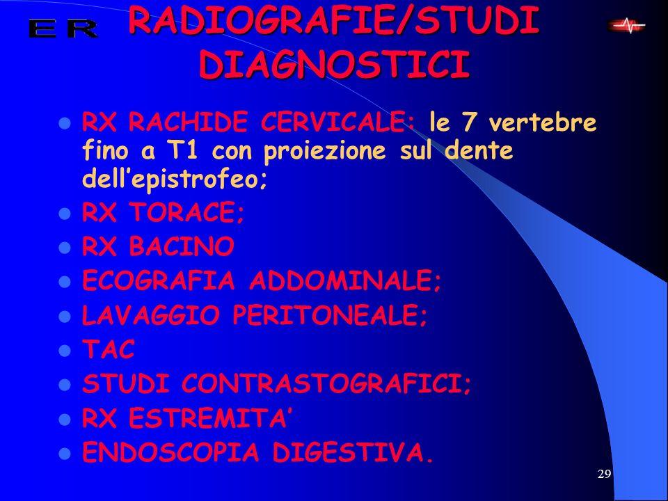 RADIOGRAFIE/STUDI DIAGNOSTICI