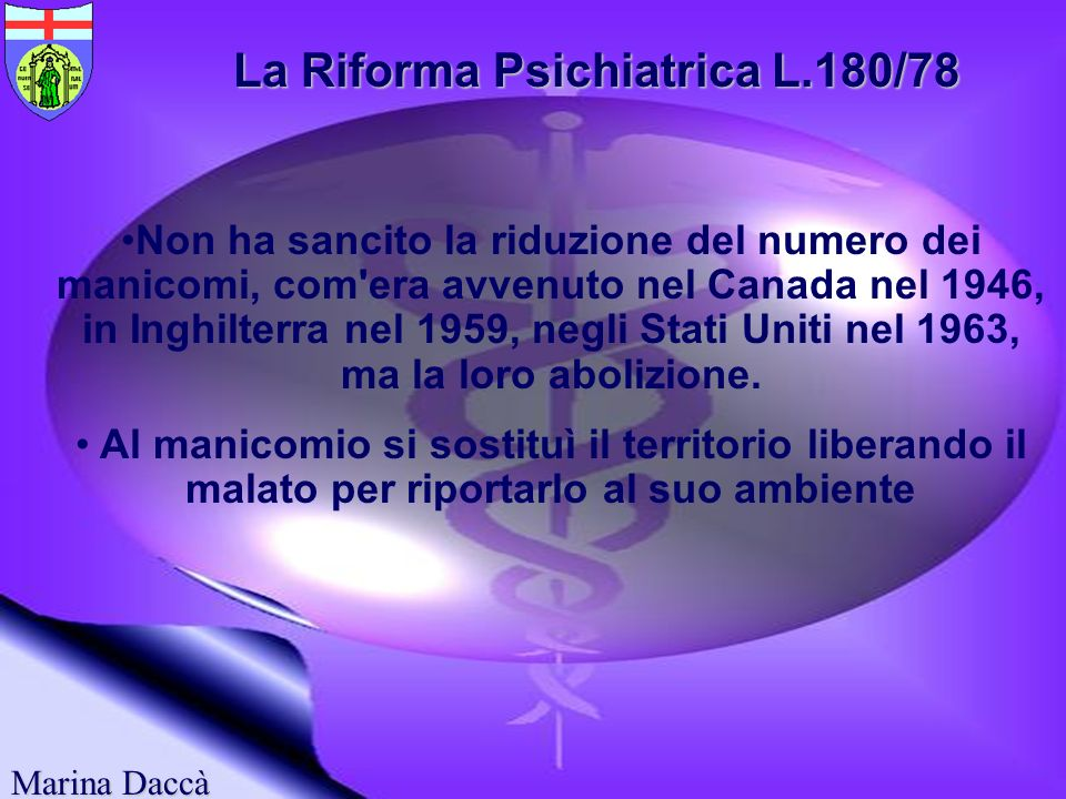 La Riforma Psichiatrica L.180/78