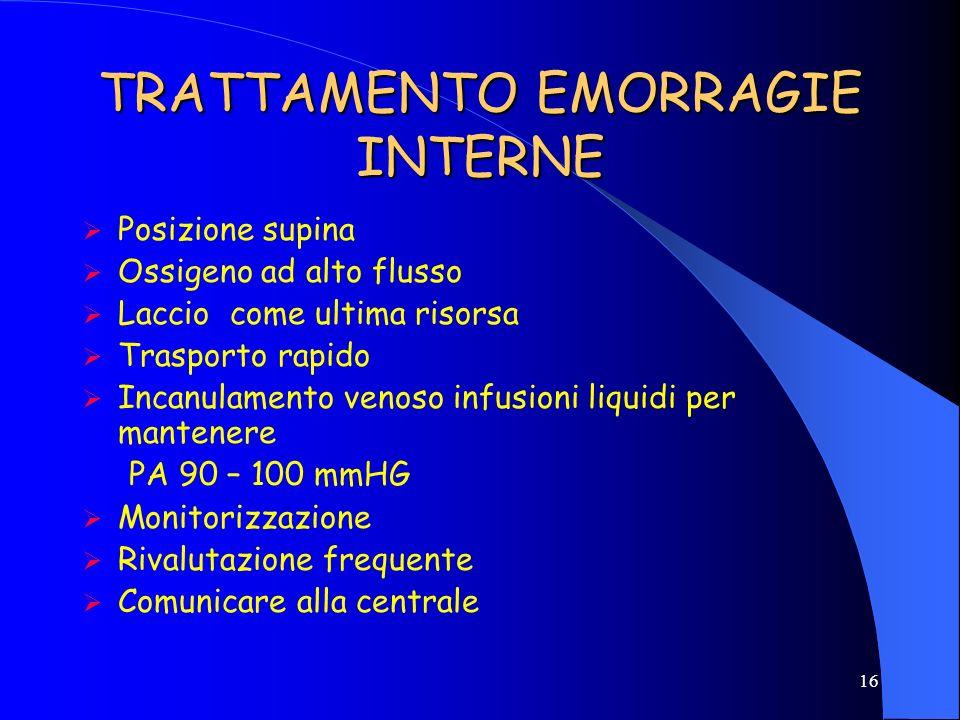 TRATTAMENTO EMORRAGIE INTERNE