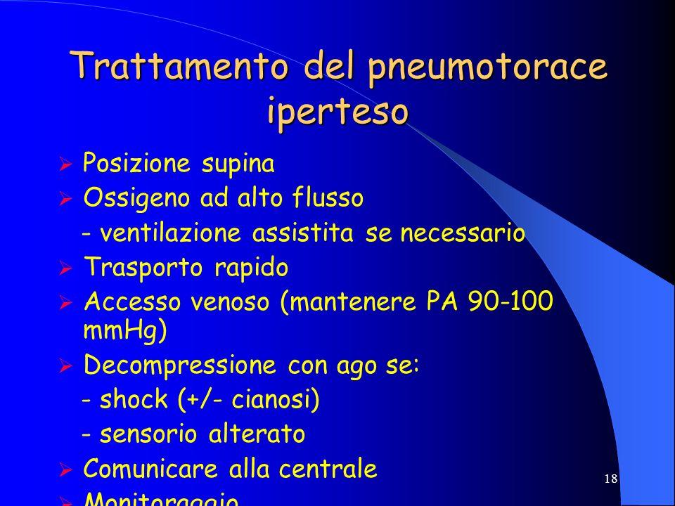 Trattamento del pneumotorace iperteso