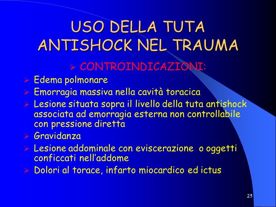 USO DELLA TUTA ANTISHOCK NEL TRAUMA