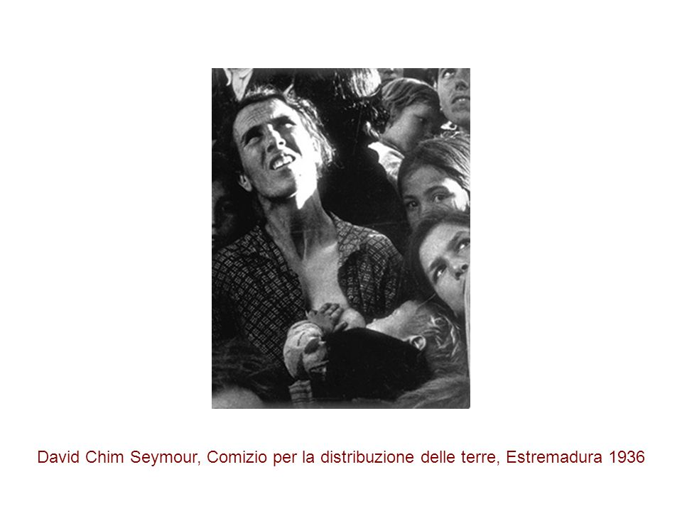 David Chim Seymour, Comizio per la distribuzione delle terre, Estremadura 1936
