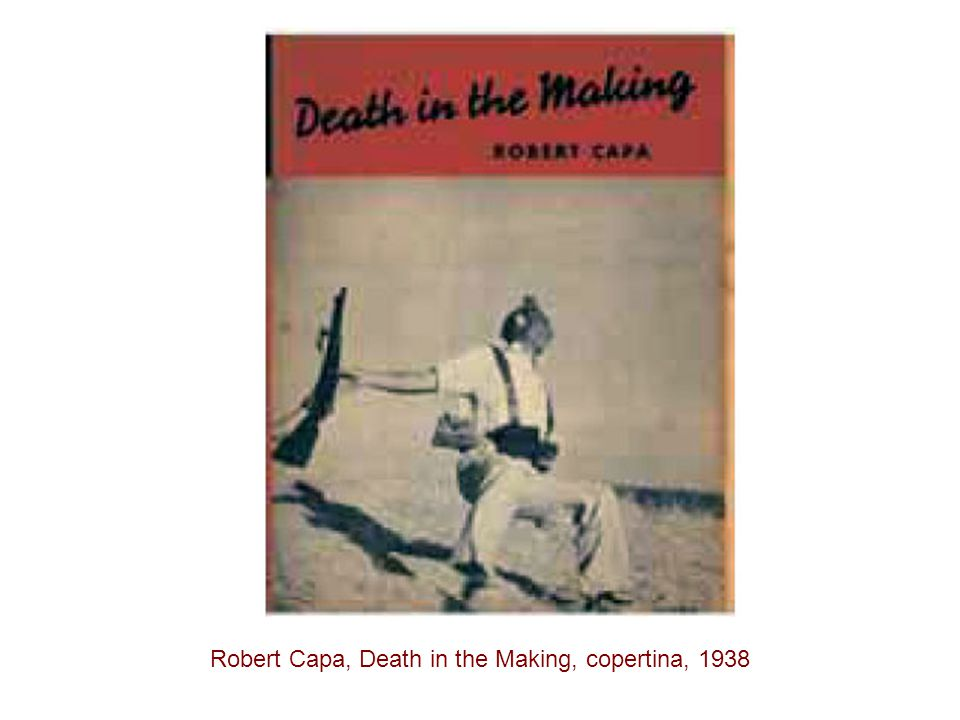 Robert Capa, Death in the Making, copertina, 1938