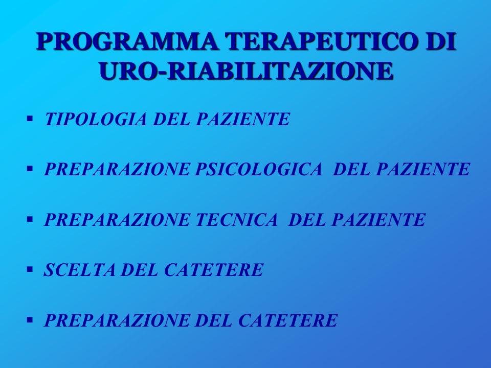 PROGRAMMA TERAPEUTICO DI URO-RIABILITAZIONE