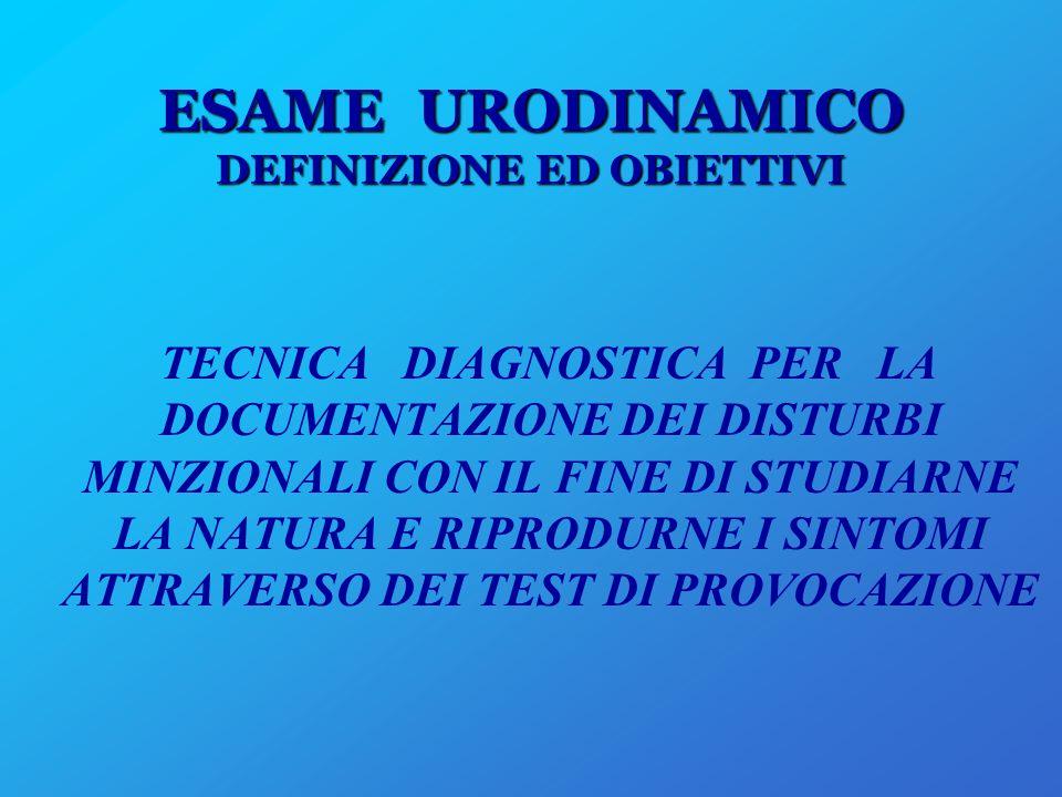 ESAME URODINAMICO DEFINIZIONE ED OBIETTIVI