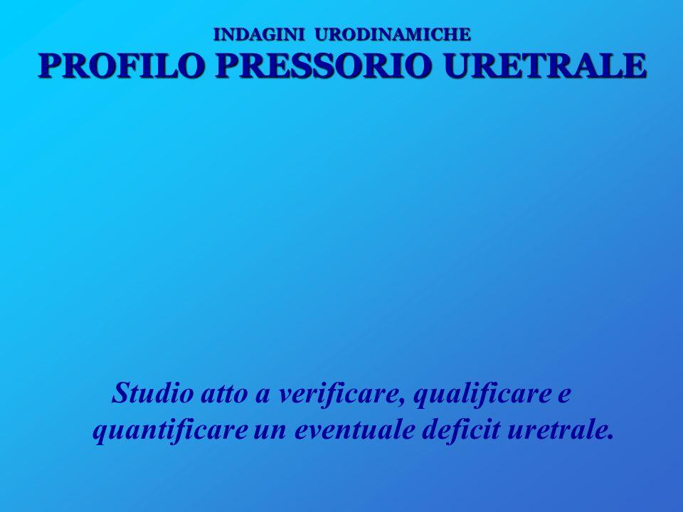INDAGINI URODINAMICHE PROFILO PRESSORIO URETRALE