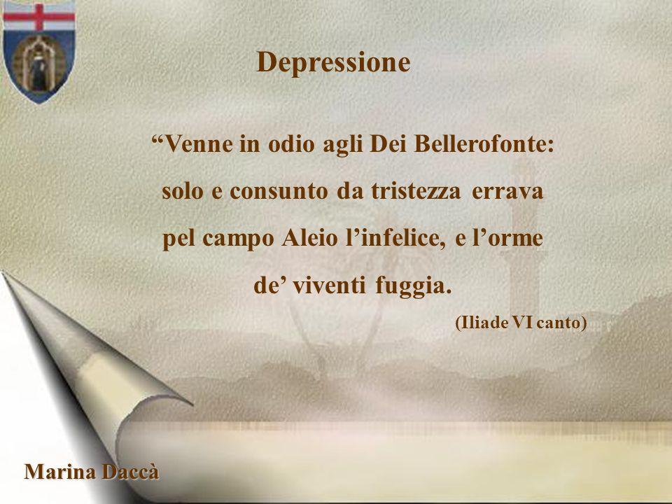 Depressione Venne in odio agli Dei Bellerofonte: