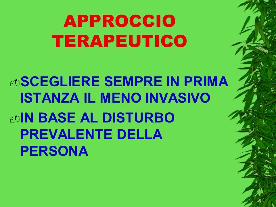 APPROCCIO TERAPEUTICO