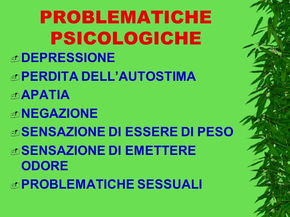 PROBLEMATICHE PSICOLOGICHE