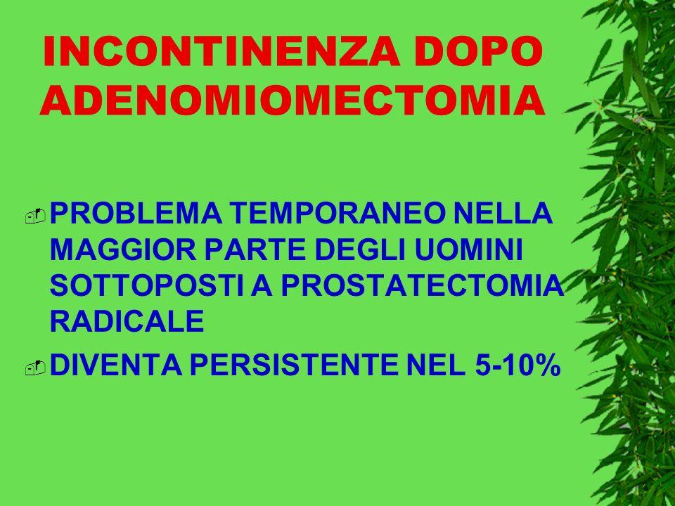 INCONTINENZA DOPO ADENOMIOMECTOMIA