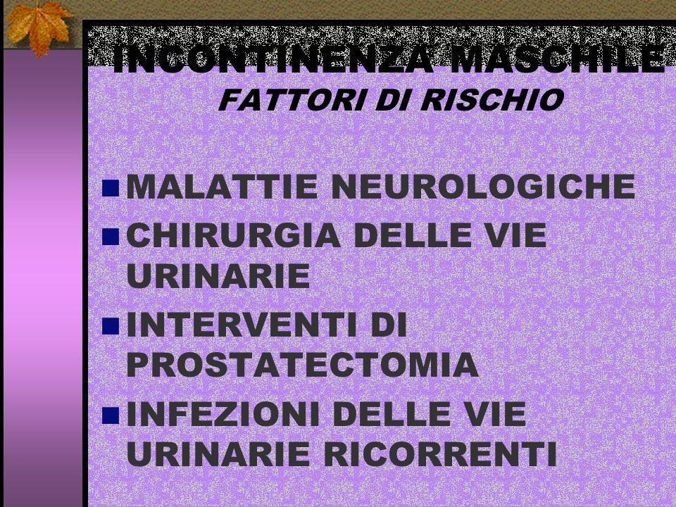 INCONTINENZA MASCHILE FATTORI DI RISCHIO