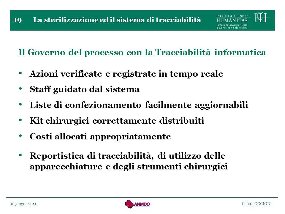 Il Governo del processo con la Tracciabilità informatica
