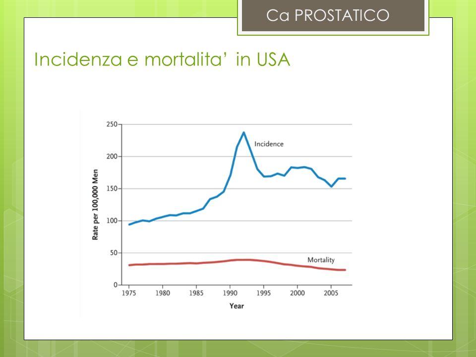 Incidenza e mortalita' in USA