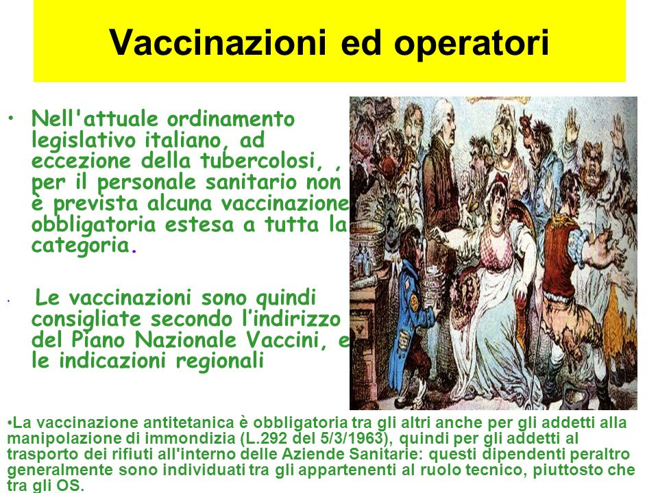 Vaccinazioni ed operatori