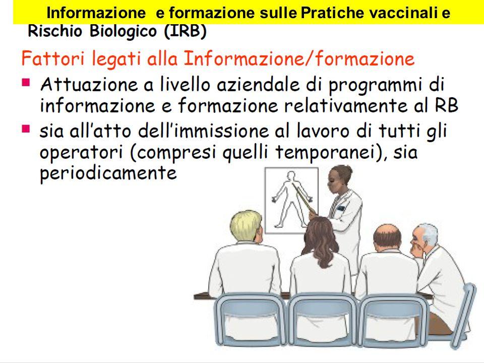 Informazione e formazione sulle Pratiche vaccinali e