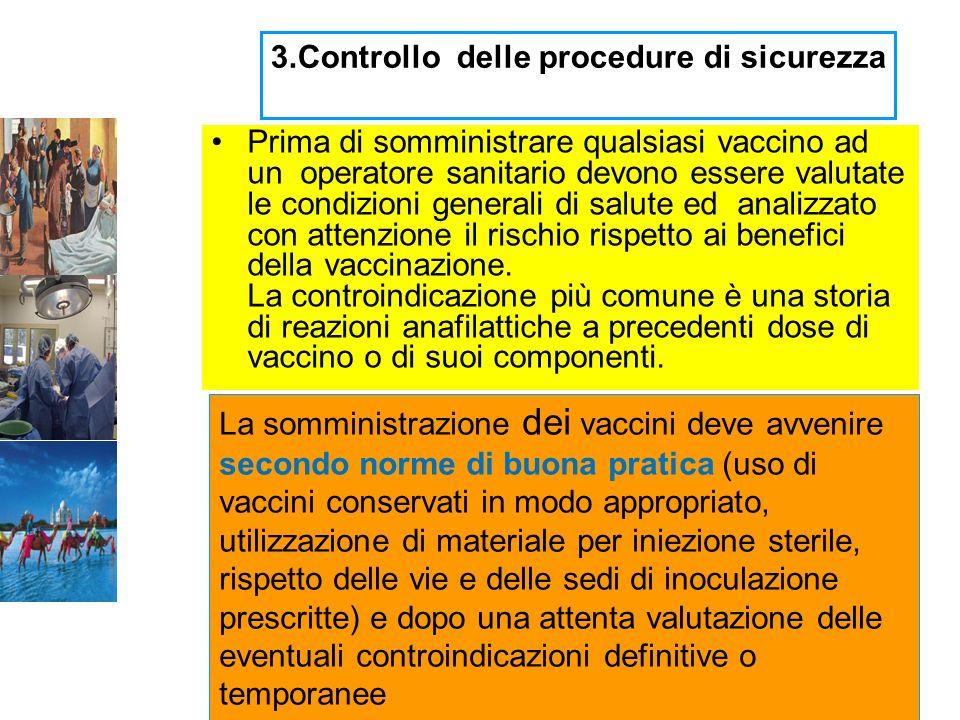 3.Controllo delle procedure di sicurezza