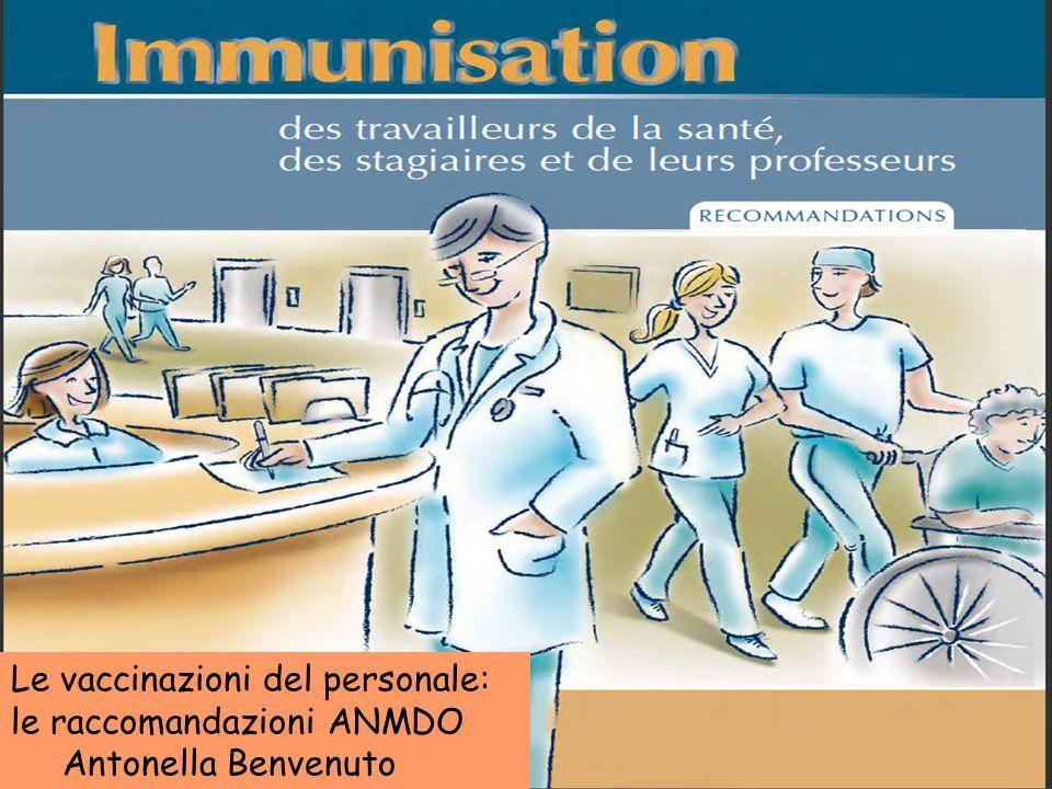 Le vaccinazioni del personale: le raccomandazioni ANMDO