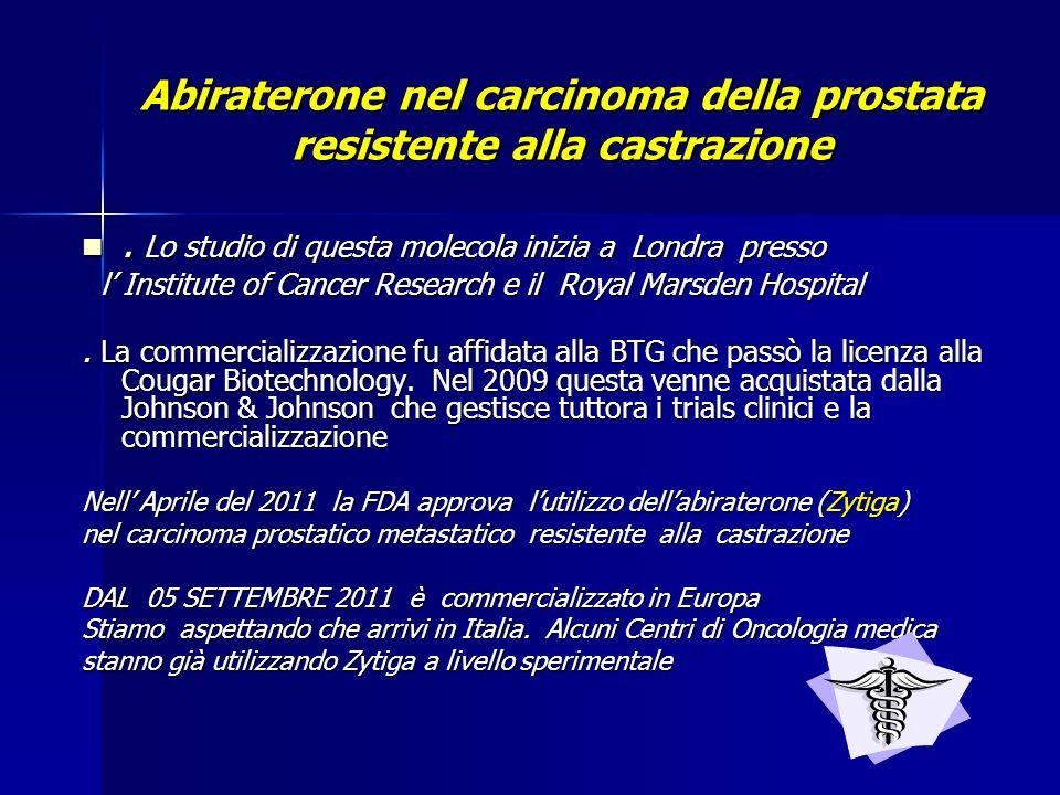 Abiraterone nel carcinoma della prostata resistente alla castrazione