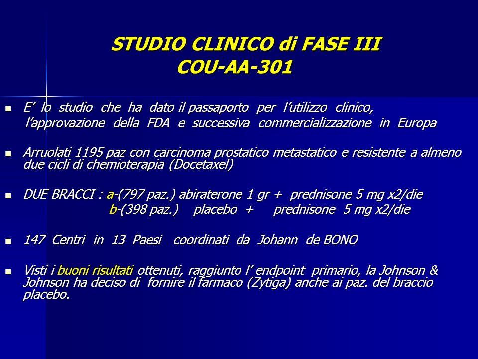 STUDIO CLINICO di FASE III COU-AA-301
