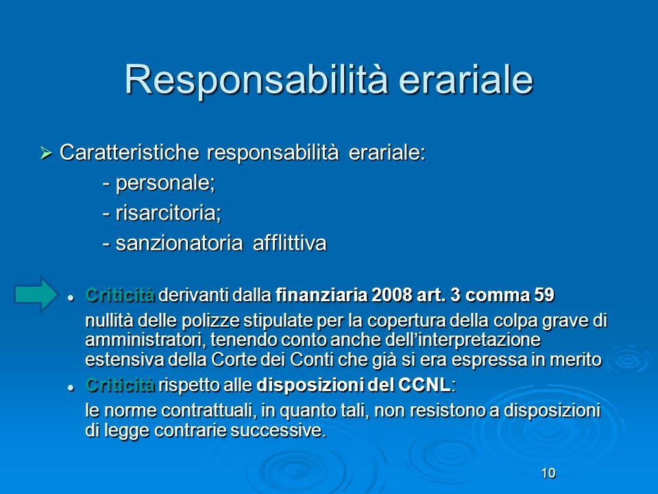 Responsabilità erariale