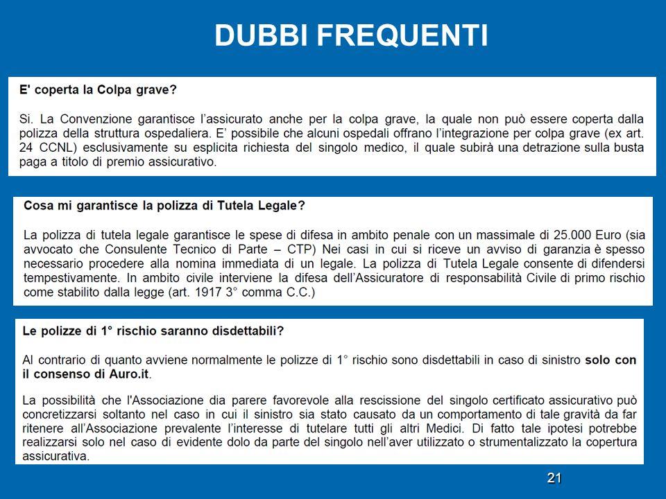 DUBBI FREQUENTI