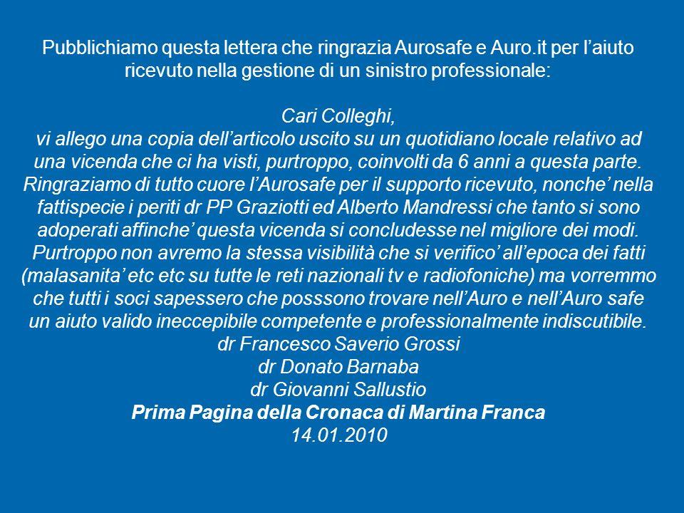 dr Francesco Saverio Grossi dr Donato Barnaba dr Giovanni Sallustio