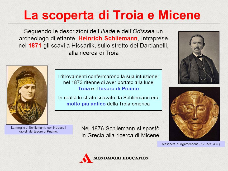 La scoperta di Troia e Micene