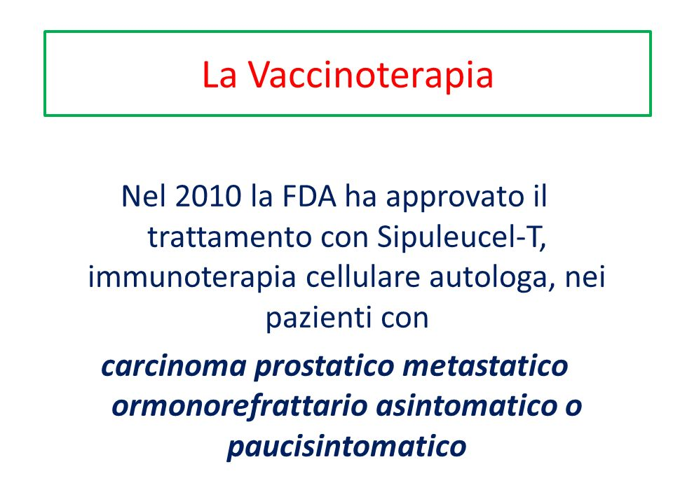 La Vaccinoterapia