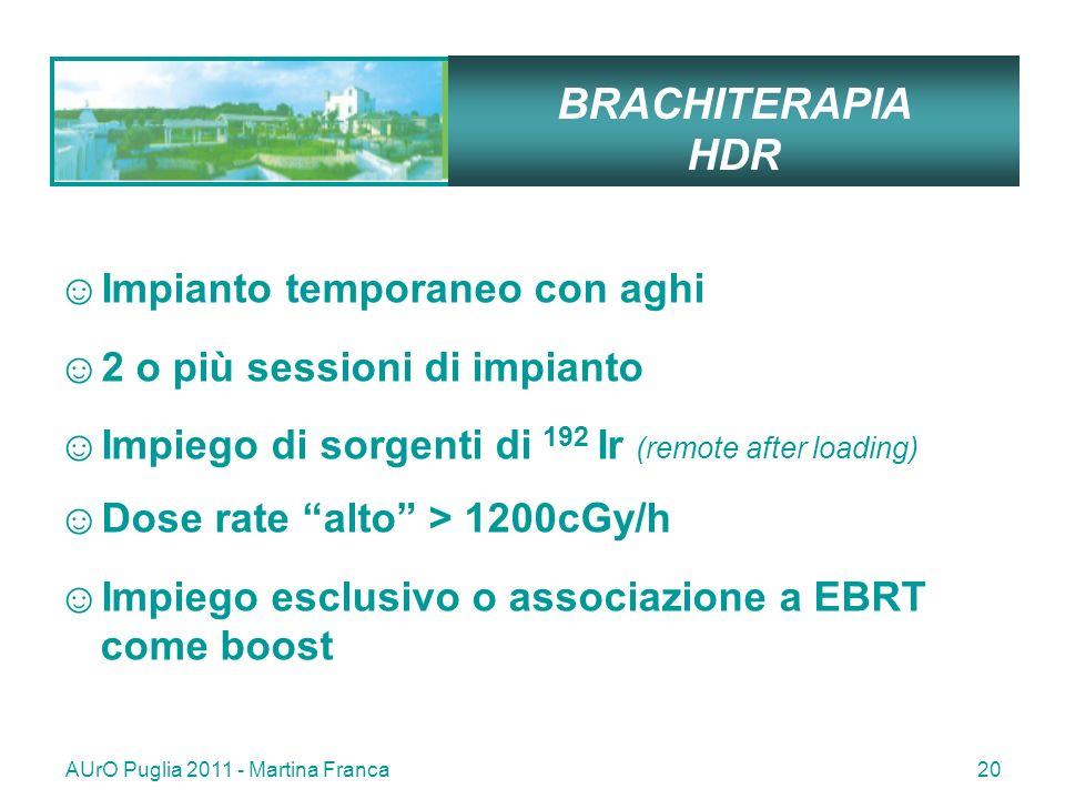 BRACHITERAPIA HDR Impianto temporaneo con aghi