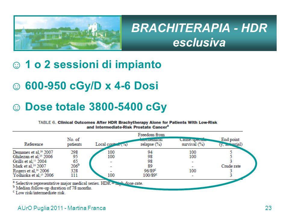 BRACHITERAPIA - HDR esclusiva