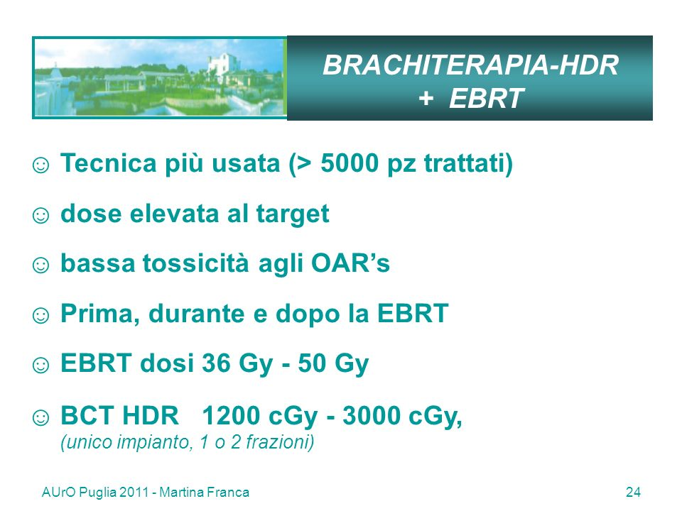 BRACHITERAPIA-HDR + EBRT