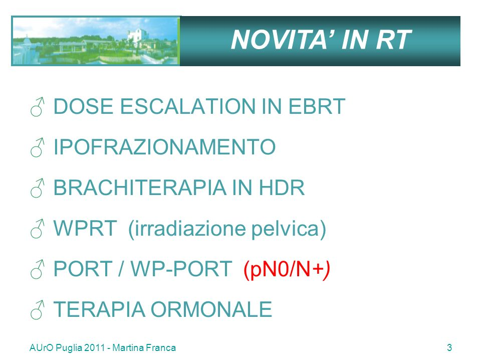 NOVITA' IN RT DOSE ESCALATION IN EBRT IPOFRAZIONAMENTO