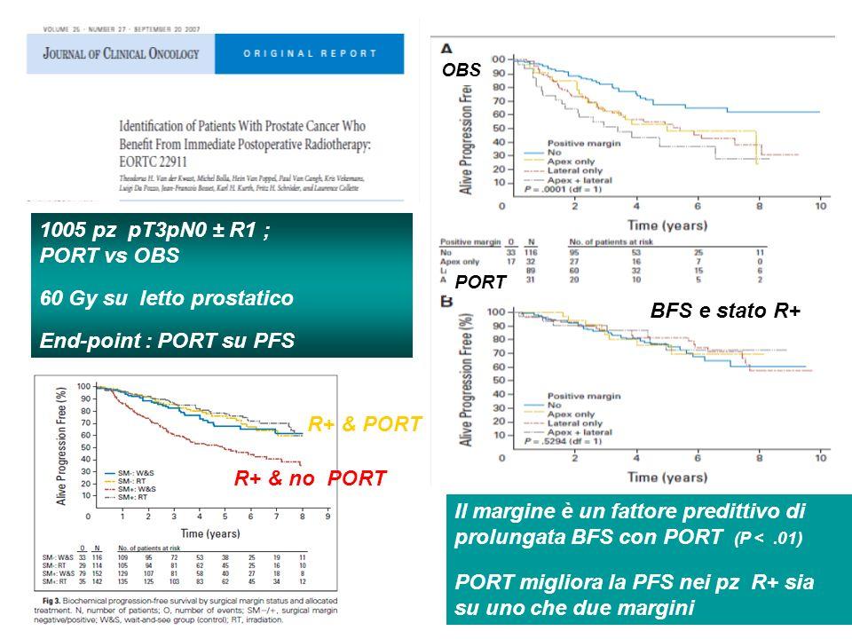 PORT migliora la PFS nei pz R+ sia su uno che due margini