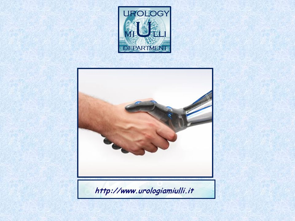 UROLOGY miUlli DEPARTMENT http://www.urologiamiulli.it