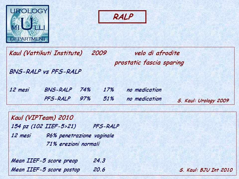 miUlli RALP UROLOGY Kaul (Vattikuti Institute) 2009 velo di afrodite