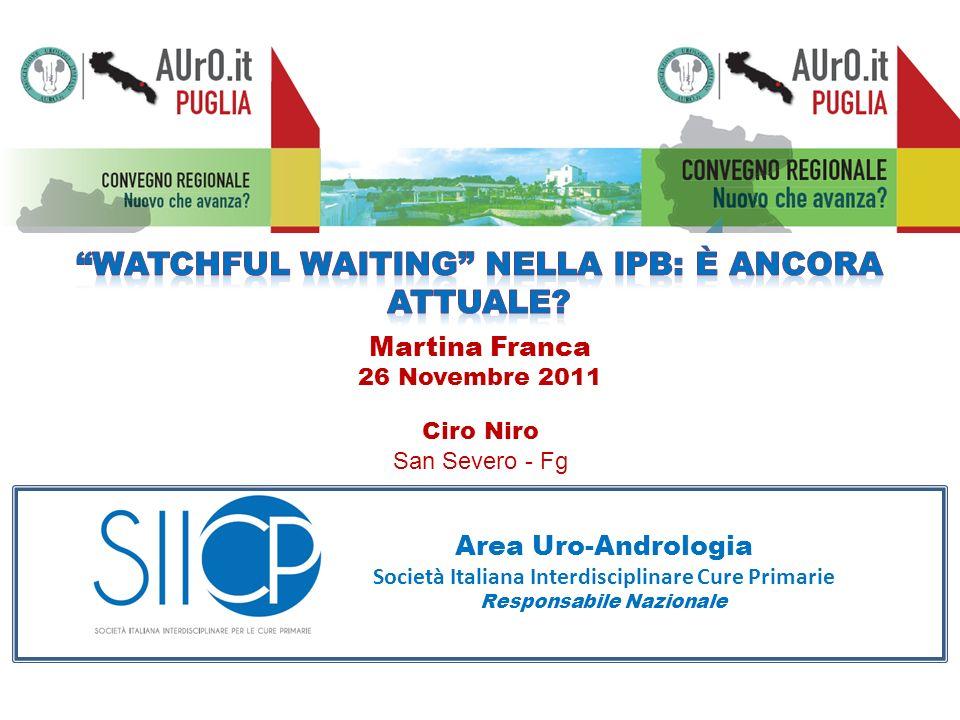 Watchful Waiting nella IPB: è ancora attuale